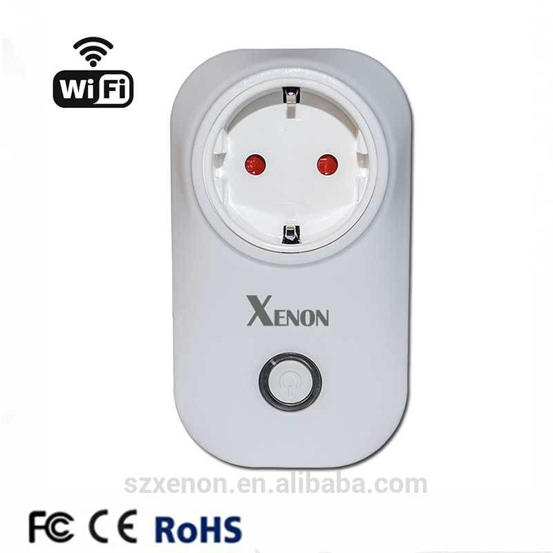Smart home Xenon timer EU wifi power socket plug outlet,smart phone ...