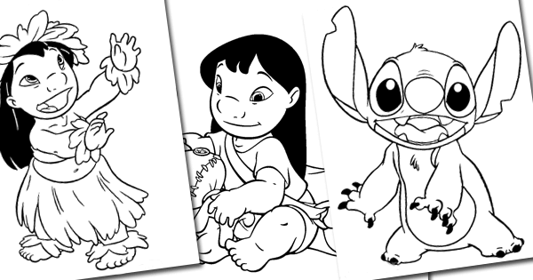 Printable Coloring Pages Of Lilo Stitch And Jumba From Disneys