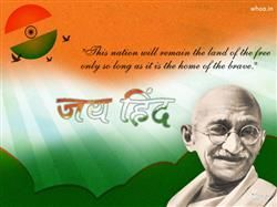 Jay Hind With Quotes And Mahatma Gandhi HD WallpaperNational Flag WallpaperJay WallpaperHappy