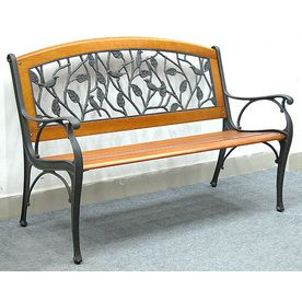 www lowes com garden treasures 4 birds leaves bench on lowes paint sale today id=60385