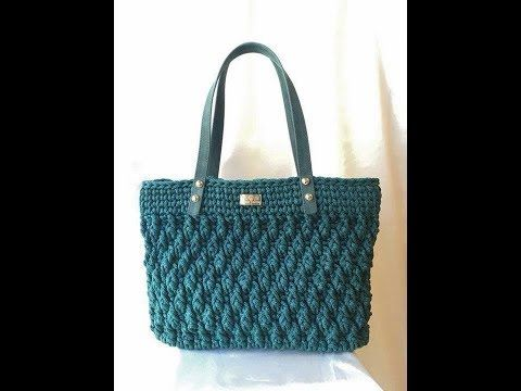 DROP BAG - BORSA UNCINETTO - HOW CROCHET A BAG - YouTube #bag