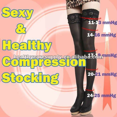 7d44d0a688 Sexy Compression Lace Thigh High Stockings | Compression stockings ...