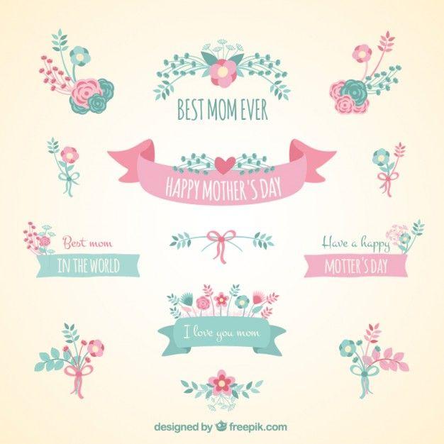 Cute ribbon banners for mothers day Free Vector Mothers day - fresh invitation banner vector