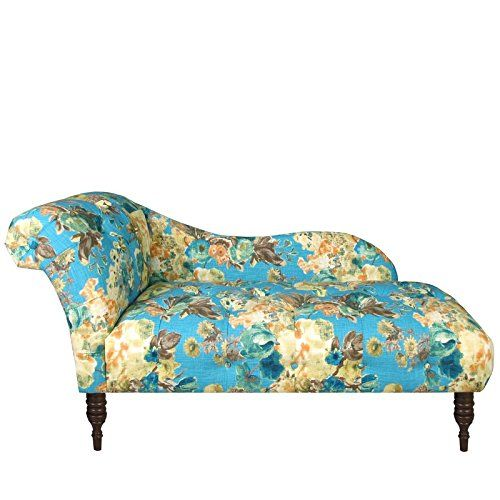 """Custom Upholstered Chaise Lounge. Manufactured in Illinois. Made to Order. Seat Height 16"""". Easy assembly required. Handcrafted diamond tufts."""