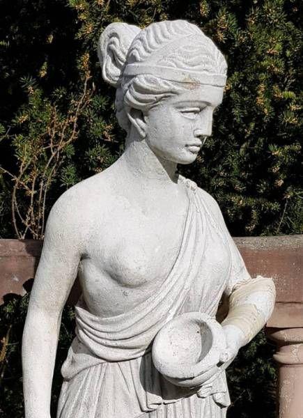 Stein Statue Skulptur Garten Figur 130cm Terrassenfigur Romisch Gartenfigur Steinstatue Statue Figur Gartende Skulpturen Garten Steinfiguren Garten Statue