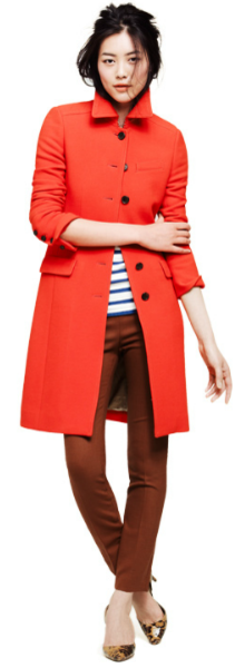 love the red coat!