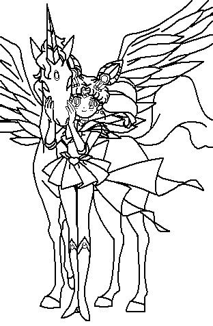 rini and pegasus coloring page by paramourphoenix on deviantart