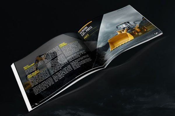 Caterpillar Services Brochure Design Concept   Really Beautiful