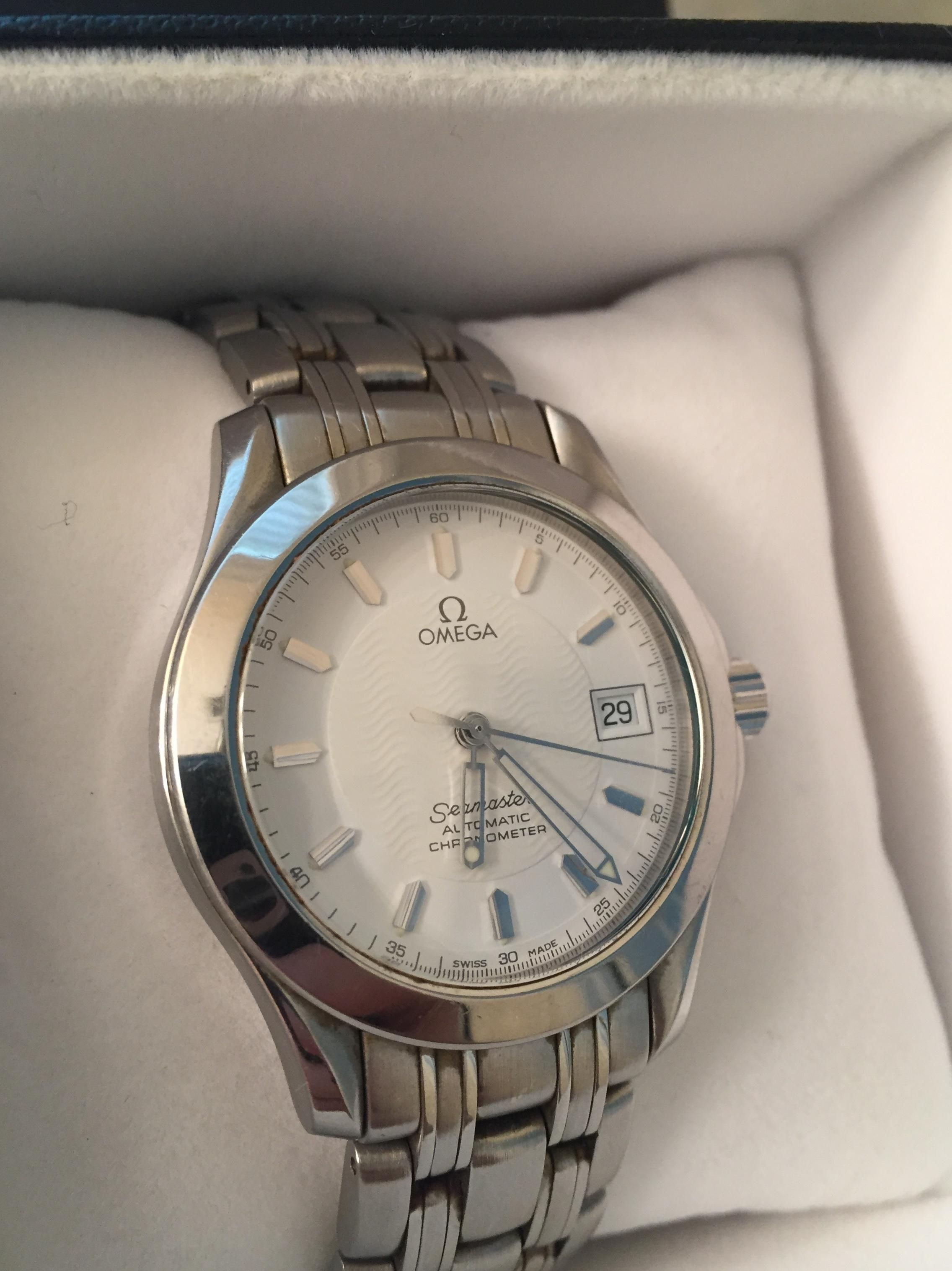 Identify Omega Seamaster From Early 2000s Specific Number Name For This Version Current Price Omega Railmaster Omega Seamaster Omega