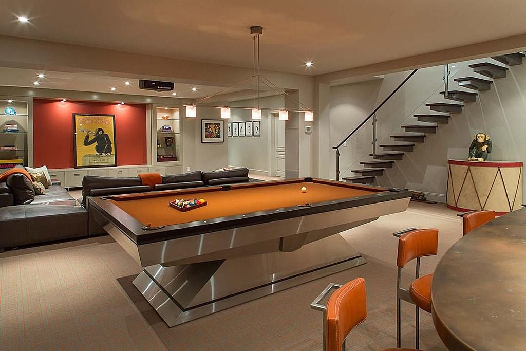 Art Deco Game Room Found On Zillow Digs What Do You Think Basement Design Game Room Basement Game Room Design
