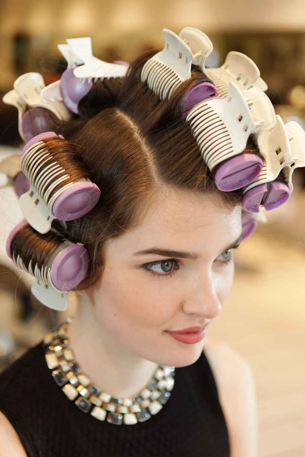 Styles Created With Hot Rollers Hot Rollers Hair Hot Roller Curls Hot Roller Styles