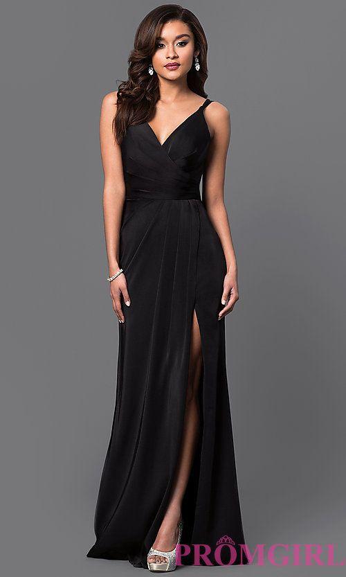 a799f6afc50 Faviana V-Neck Ruched Open-Back Floor Length Dress