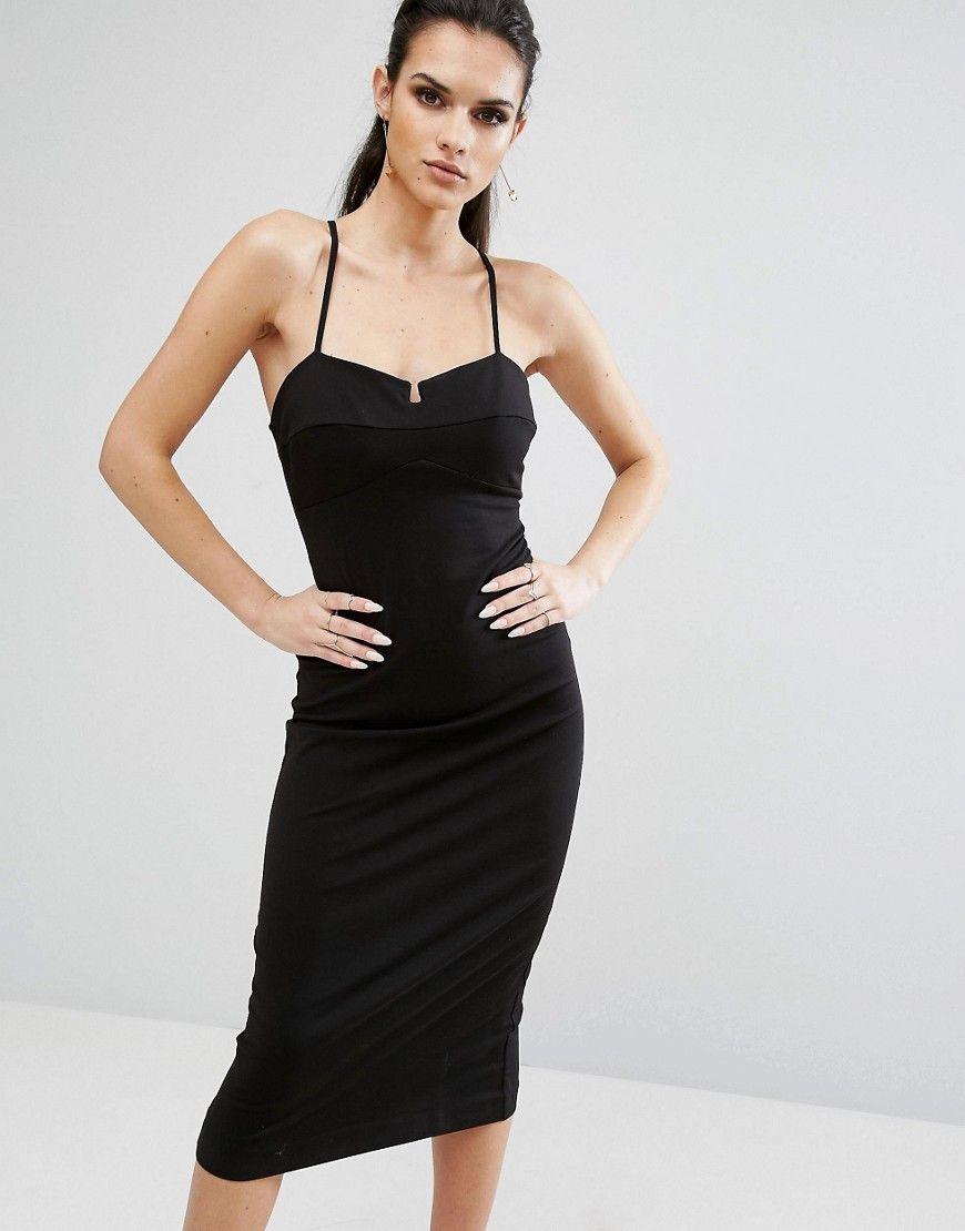 fb8c7e566a KENDALL + KYLIE BRALETTE BODYCON DRESS - BLACK.  kendall+kylie  cloth