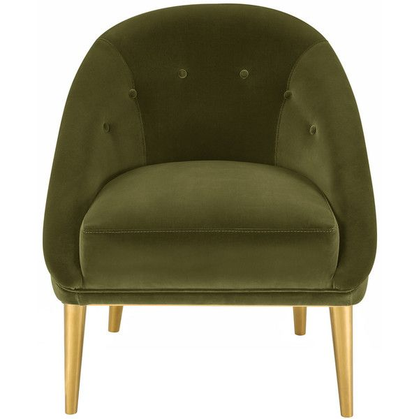 Safavieh Hopkins Velvet Club Chair With Gold Legs Dark