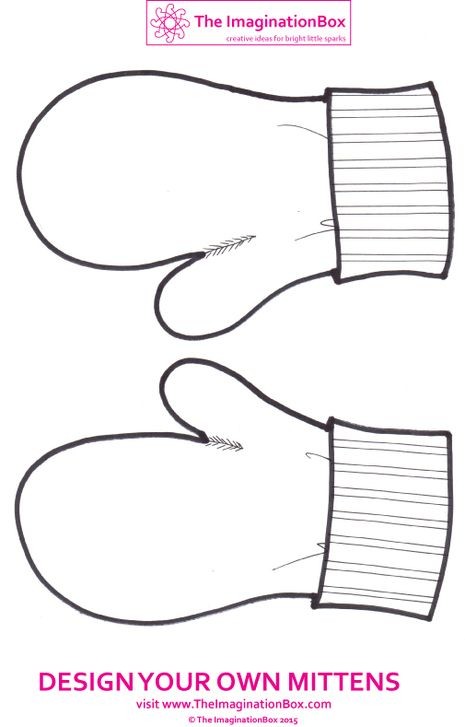 Mitten Pattern Coloring Page