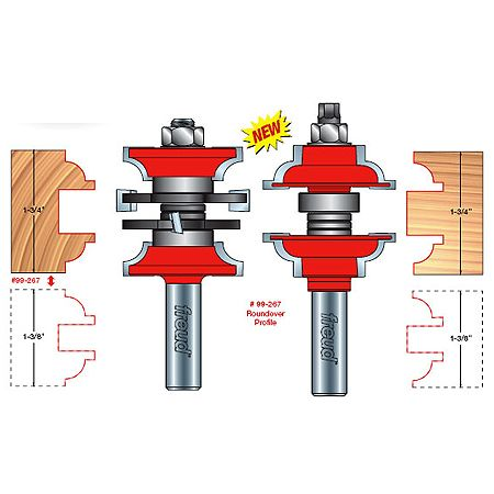 Freud 99 267 Entry Interior Door Router Bit System Beading Profile 1 2 39 39 Shank Only