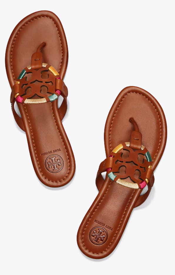 4d0ee2499c34 Tory Burch Miller Embroidered Sandal