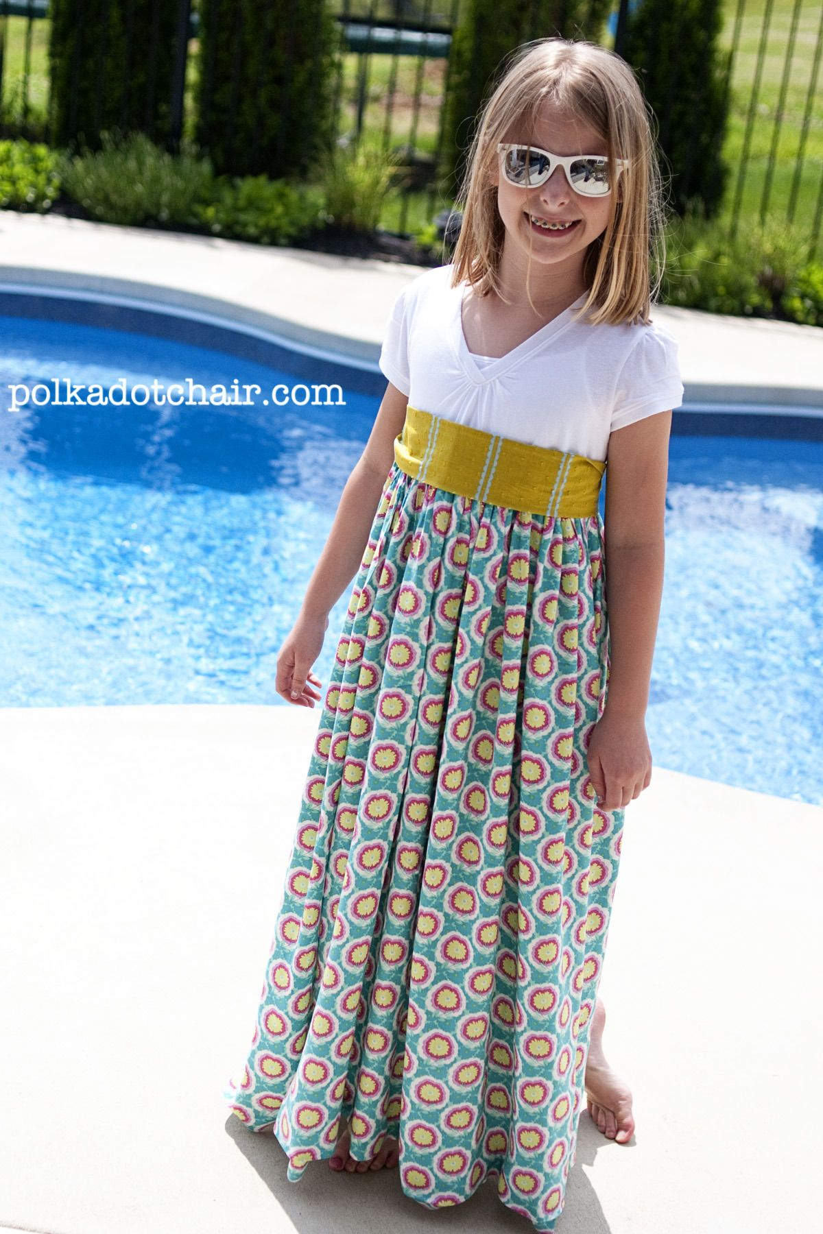 Tutorial: Summer Maxi Dress Pattern, t-shirt refashion | Nähen ...