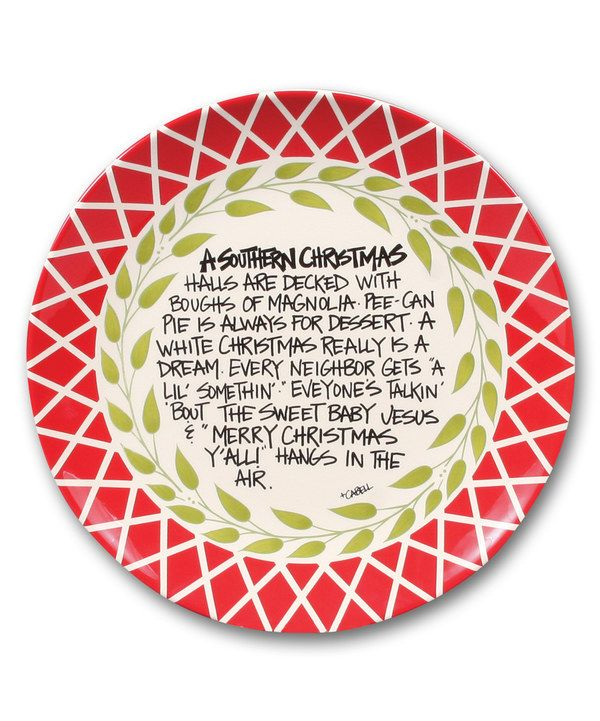 Look at this Southern Christmas Plate on #zulily today!