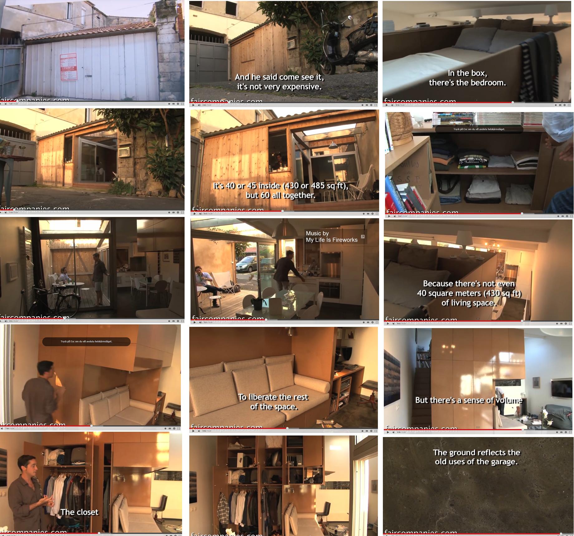 ombyggt garage en 10 kvm mbel som innehller allt skrivbord bddsoffa frvaring