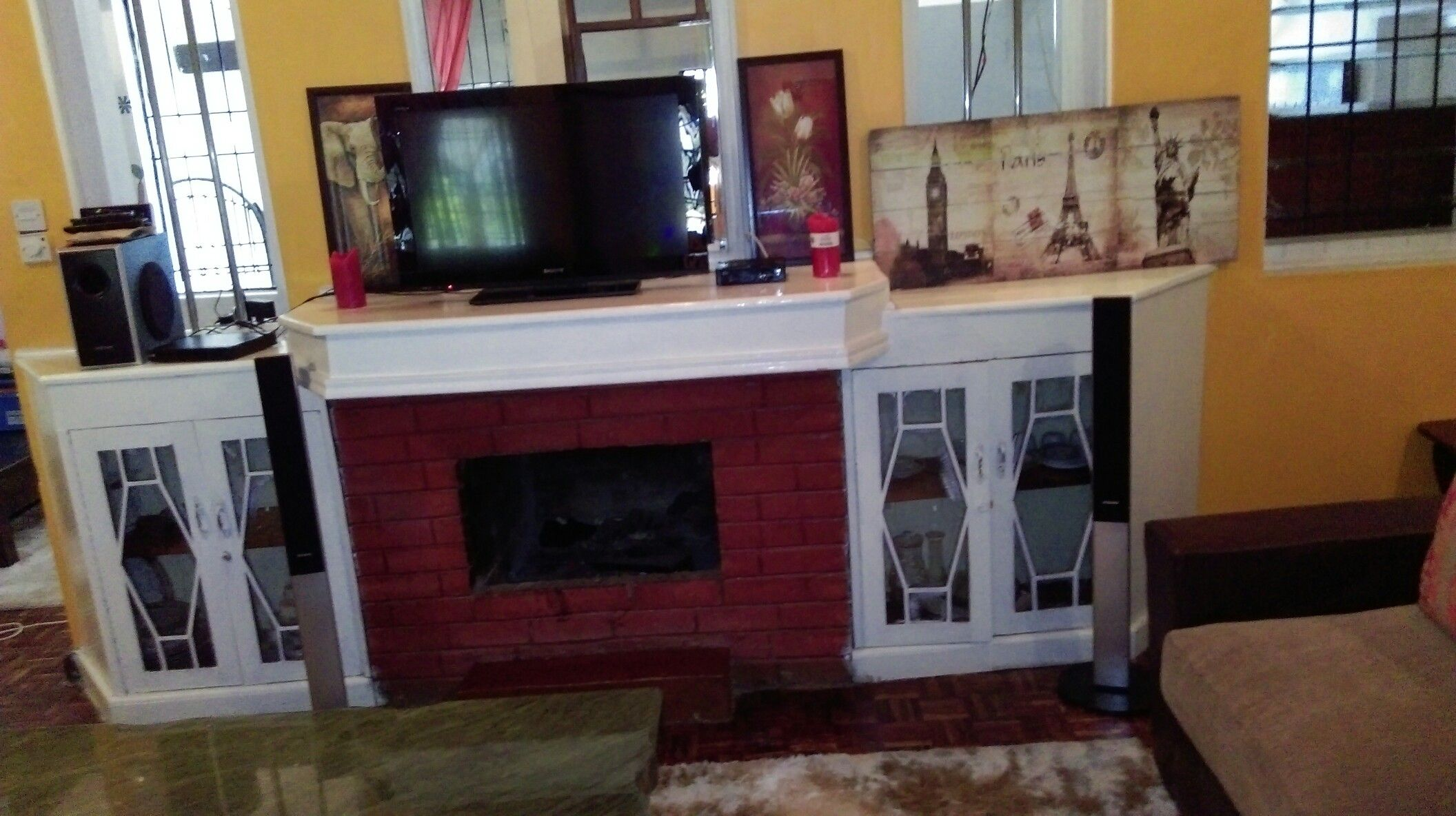 Updated fireplace and Room Focal point