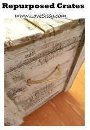A bunch of ways to repurpose shipping crates/old crates/vintage crates
