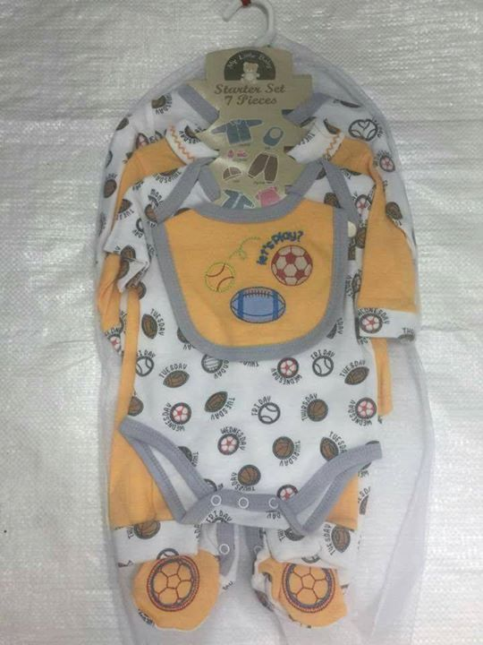 4d9fc2c0c238 7 Piece Newborn Baby Starter Set in one size 0-3 months. It ...