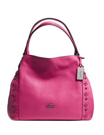 Coach Polished Pebble Leather Edie 31 Shoulder Bag Pink in