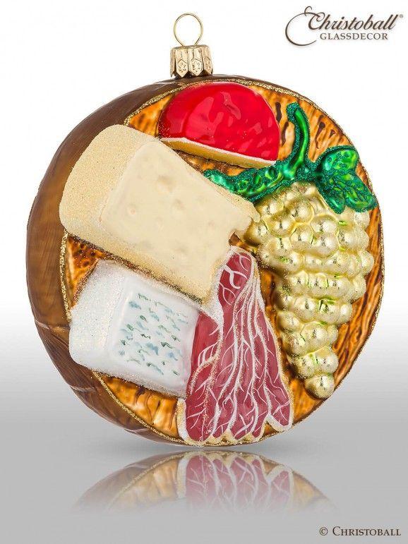 Weihnachtsform Vesperplatte Candy Land Christmas Glass