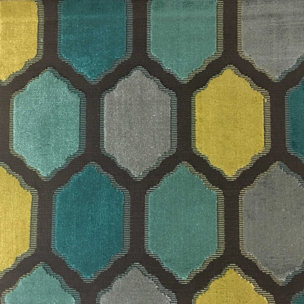 Seymour - Honeycomb Pattern Cut Velvet Upholstery Fabric by the Yard - Available in 13 Colors #velvetupholsteryfabric
