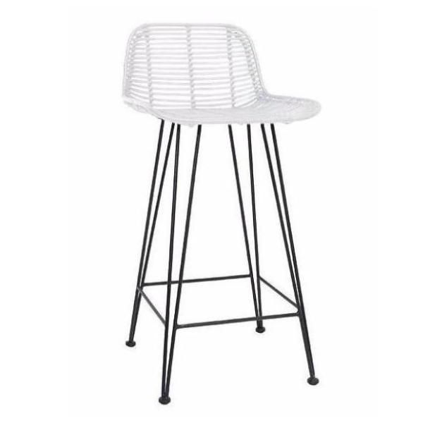 Outstanding The Scandinavian Inspired Rattan Bar Stool By Hk Living In Gmtry Best Dining Table And Chair Ideas Images Gmtryco