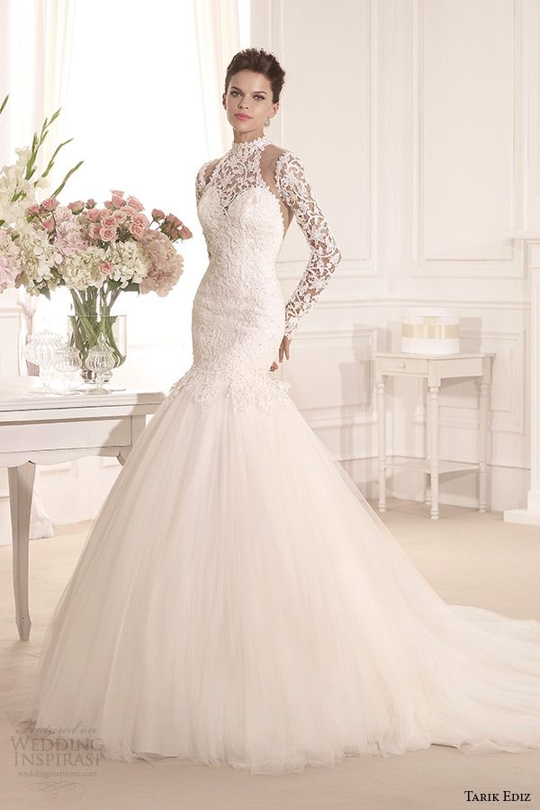 Tarik Ediz White 2014 Bridal Collection — Part 1 | Lace mermaid ...