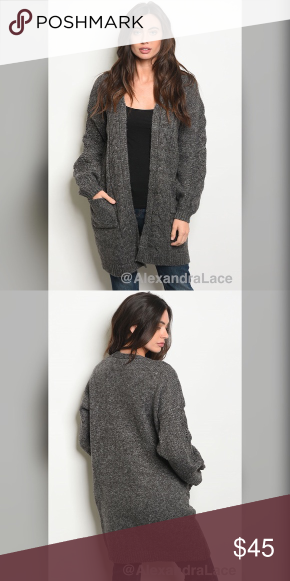 """49d5ef6708 NEW ARRIVAL 🍂Charcoal Sweater🍂 Fabric  75% Acrylic 15% Polyester 10%  Nylon. Description  L  34"""" B  44"""" W  44"""" (small) 📦 Shipping on  Wednesday-Thursday ..."""