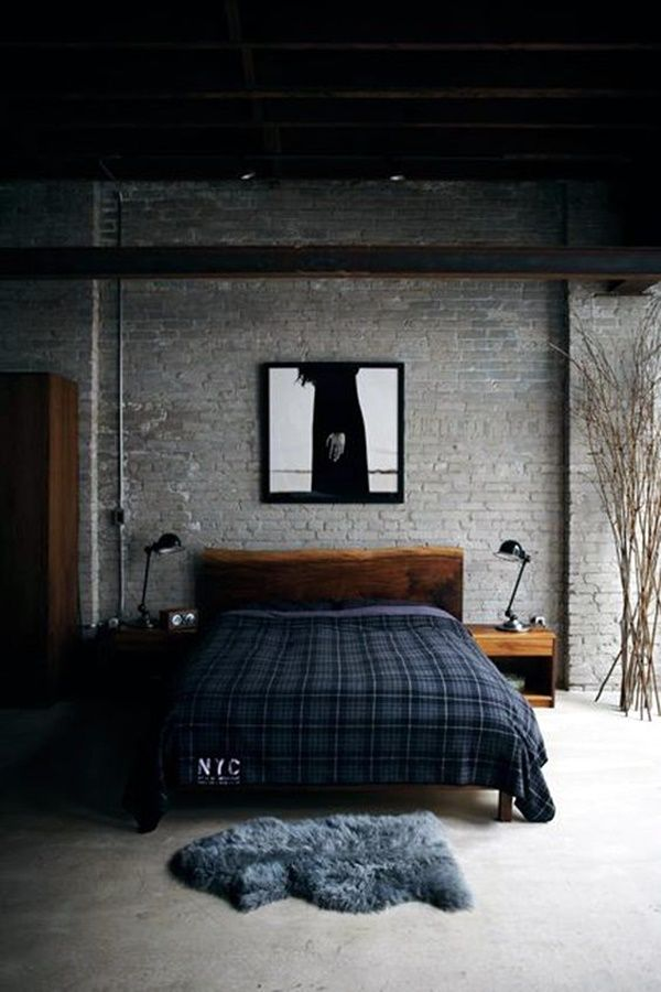 45 Classic Men Bedroom Ideas And Designs Industrial Bedroom Design Blue Bedroom Decor Home Bedroom