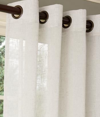 Sheer Linen Grommet Top Curtains J Doesn T Like The Grommets Too Much A Shower Curtain