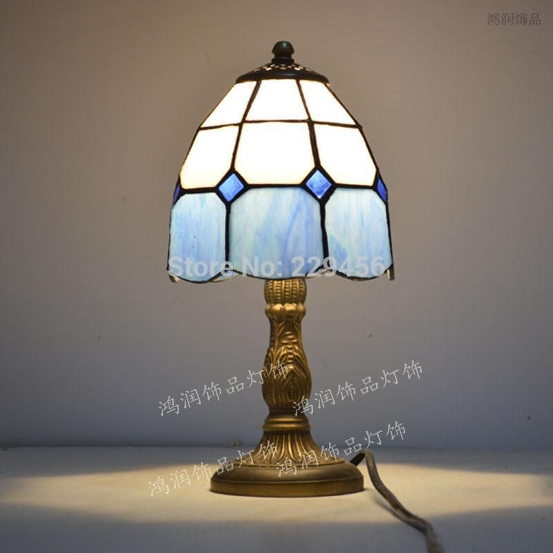 Designer Bedroom Lamps Gorgeous Tiffany Small Table Lamp Stained Glass Mediterranean Sea Style Decorating Inspiration