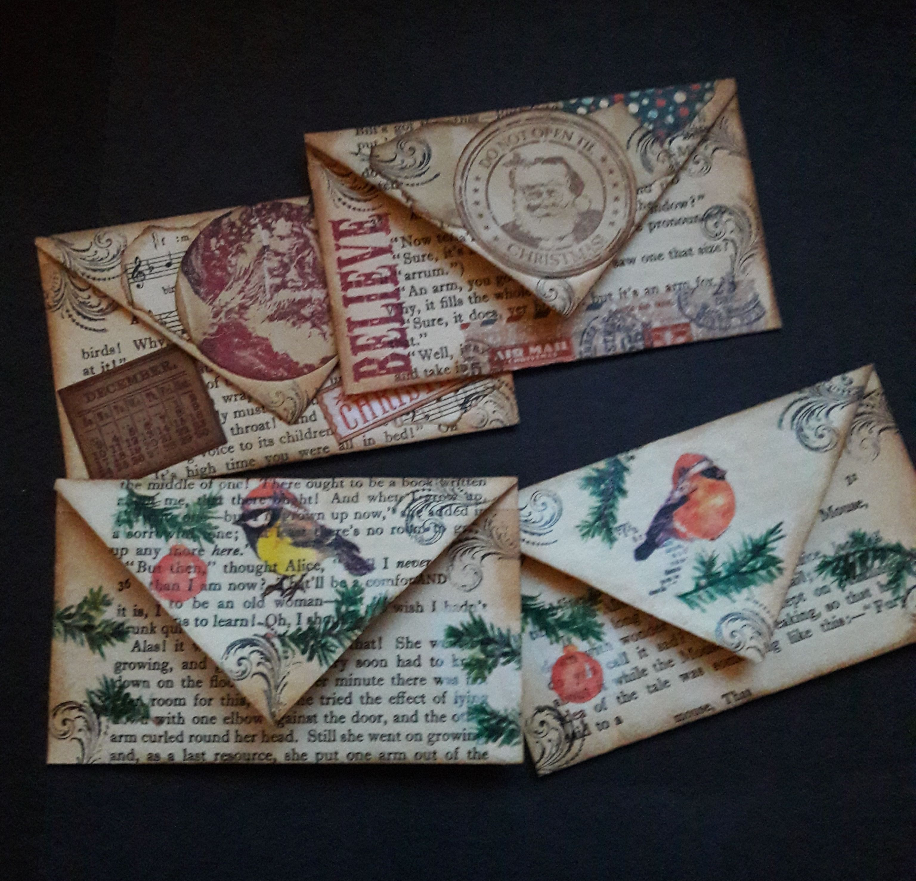 Envelopes Made from Book Pages
