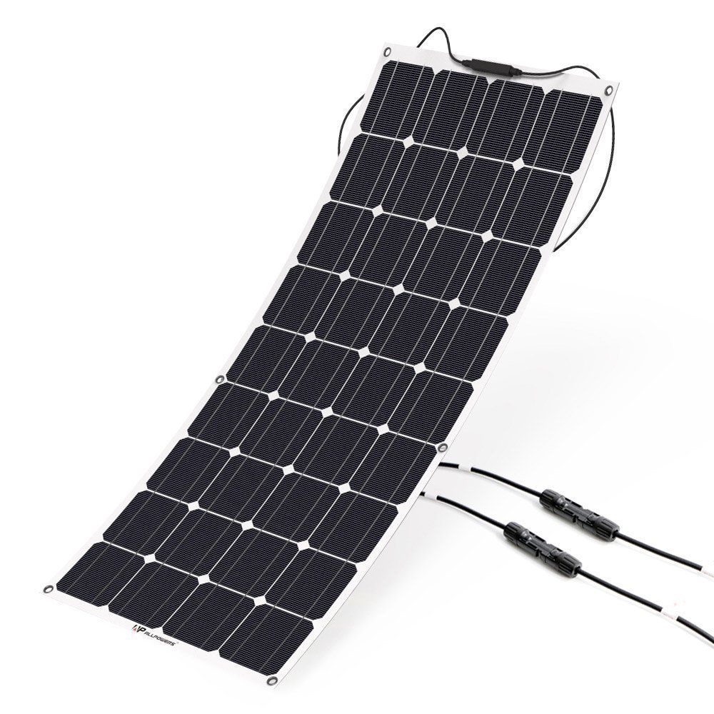 Solar Panel Allpowers 100w 18v 12v Bendable Charger Water Shock Dust Resistant Solar Charger For Rv Boat Cabin Tent Car Trailer Or Any Other Irregular S In 2020