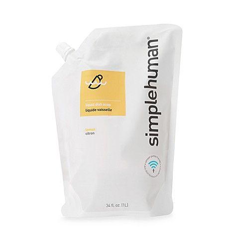 Best Simplehuman® Dish Soap 34 Oz Refill Pouch In Lemon 400 x 300