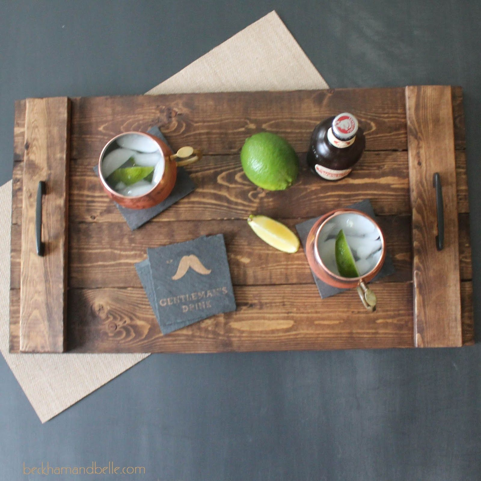 DIY Holiday Gifts - Wooden Serving Tray