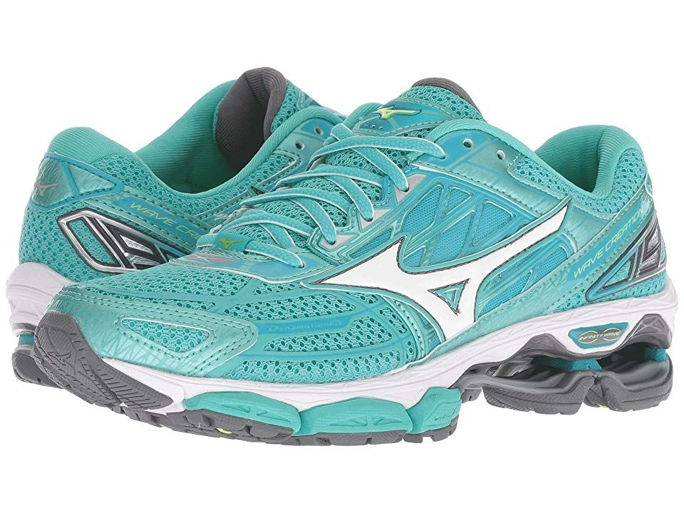 Mizuno Wave Creation 19 (Turquoise Peacock Blue) Women s Running Shoes. Get  a f626310a82d