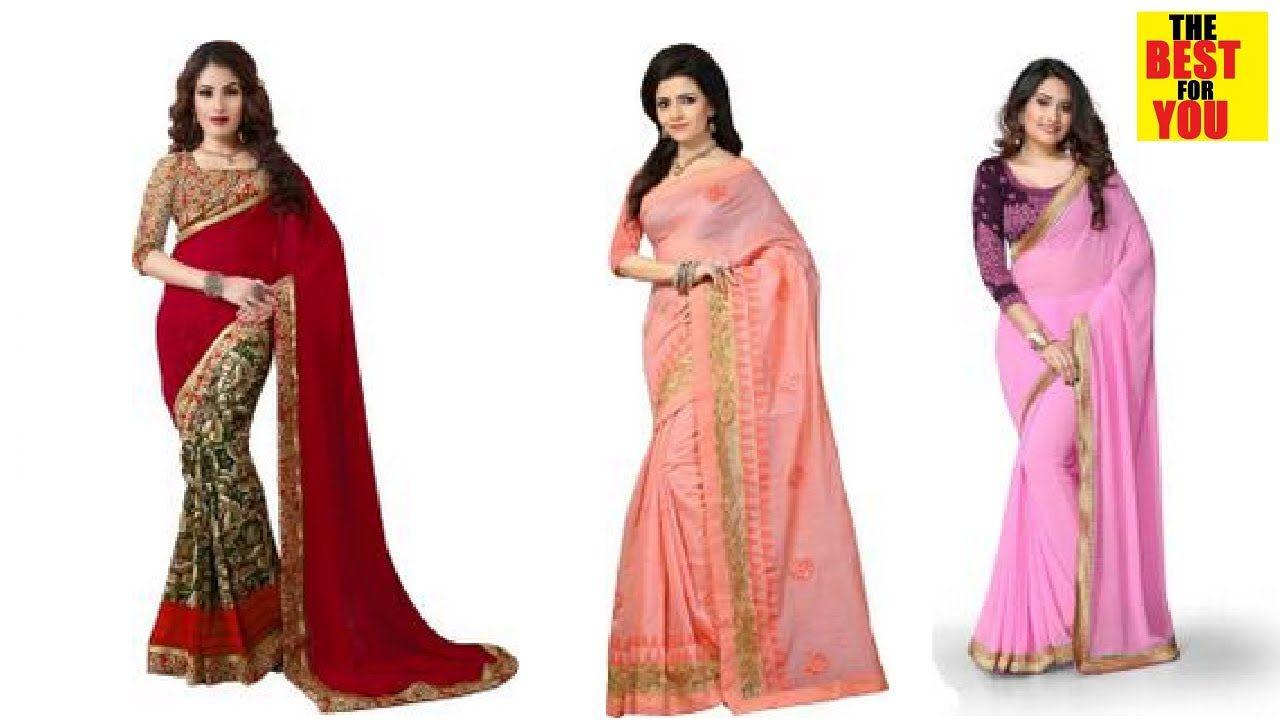 a10819b0d7 Party saree wedding indian dresses Sari saree collection in Flipkart and amazon  shopping online