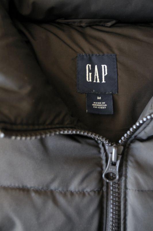 Detalhe colete de inverno Gap