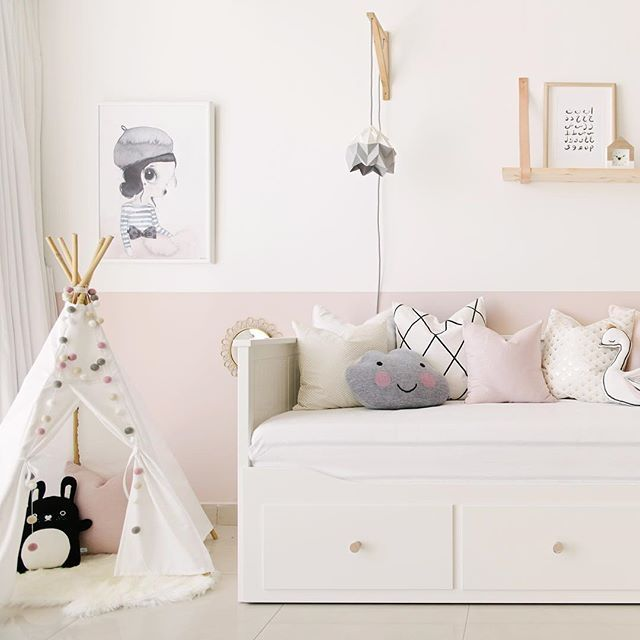 m dchenzimmer wei rosa kinderzimmer mit wolke und tipi als deko kinderzimmer f r m dchen. Black Bedroom Furniture Sets. Home Design Ideas
