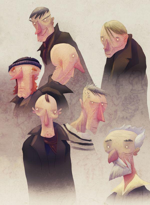 Men of the Sea by David Fernández Huerta, via Behance