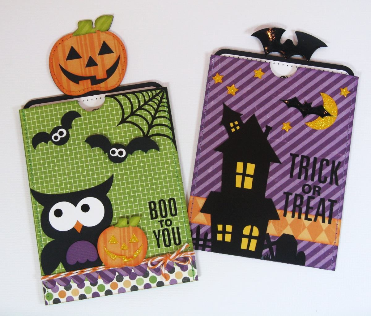 Lori Whitlock Halloween Cards.  More info about shapes used at blog link.  :)
