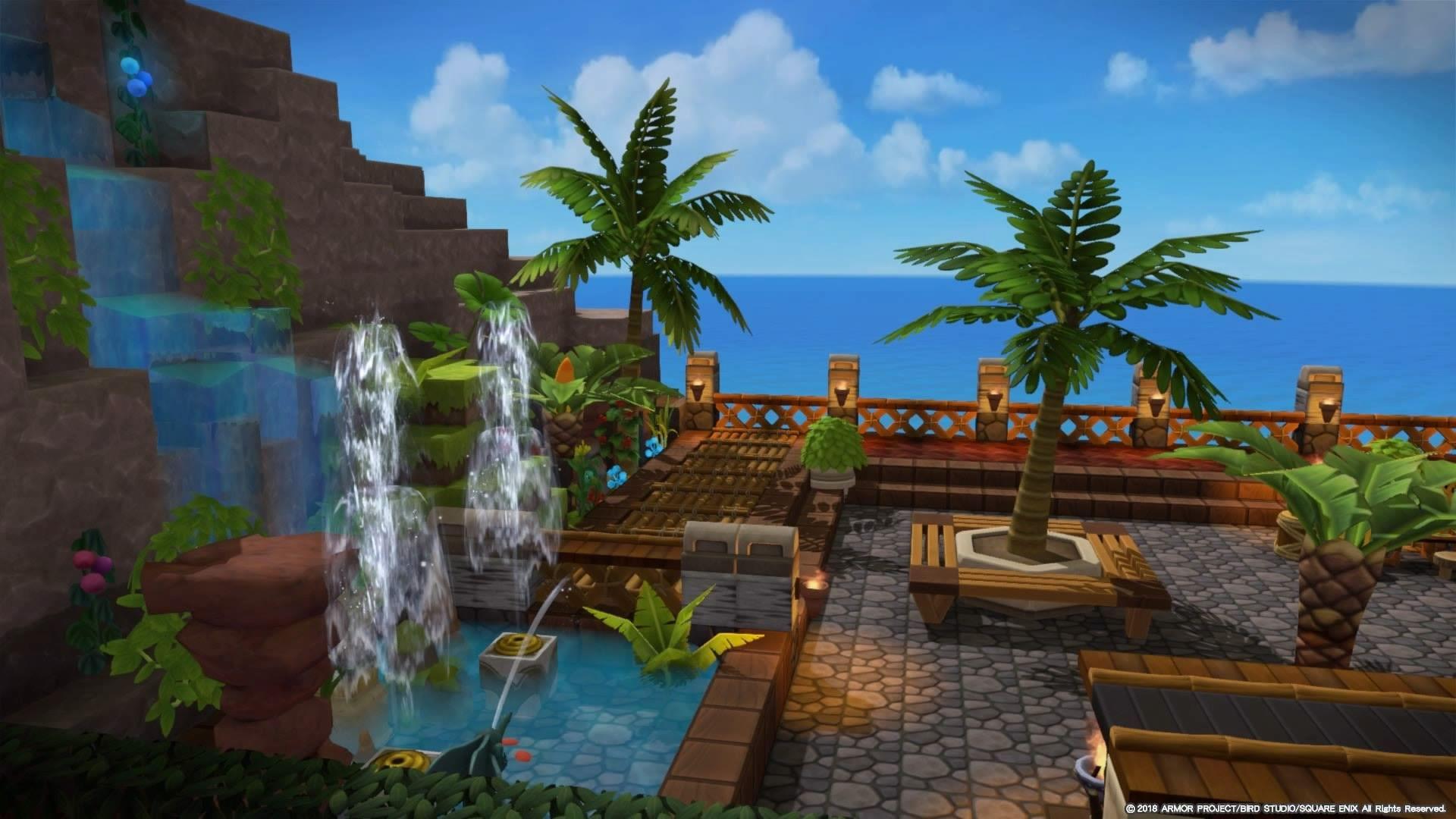 ビルダーズギャラリー ドラゴンクエストビルダーズ2 Square Enix 建物 イラスト シドー 美しい場所
