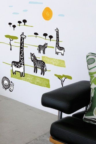 Wee Gallery Safari Wall Stickers By Blik Wall Decals. $38.00. 21 Various  Sized Landscaping