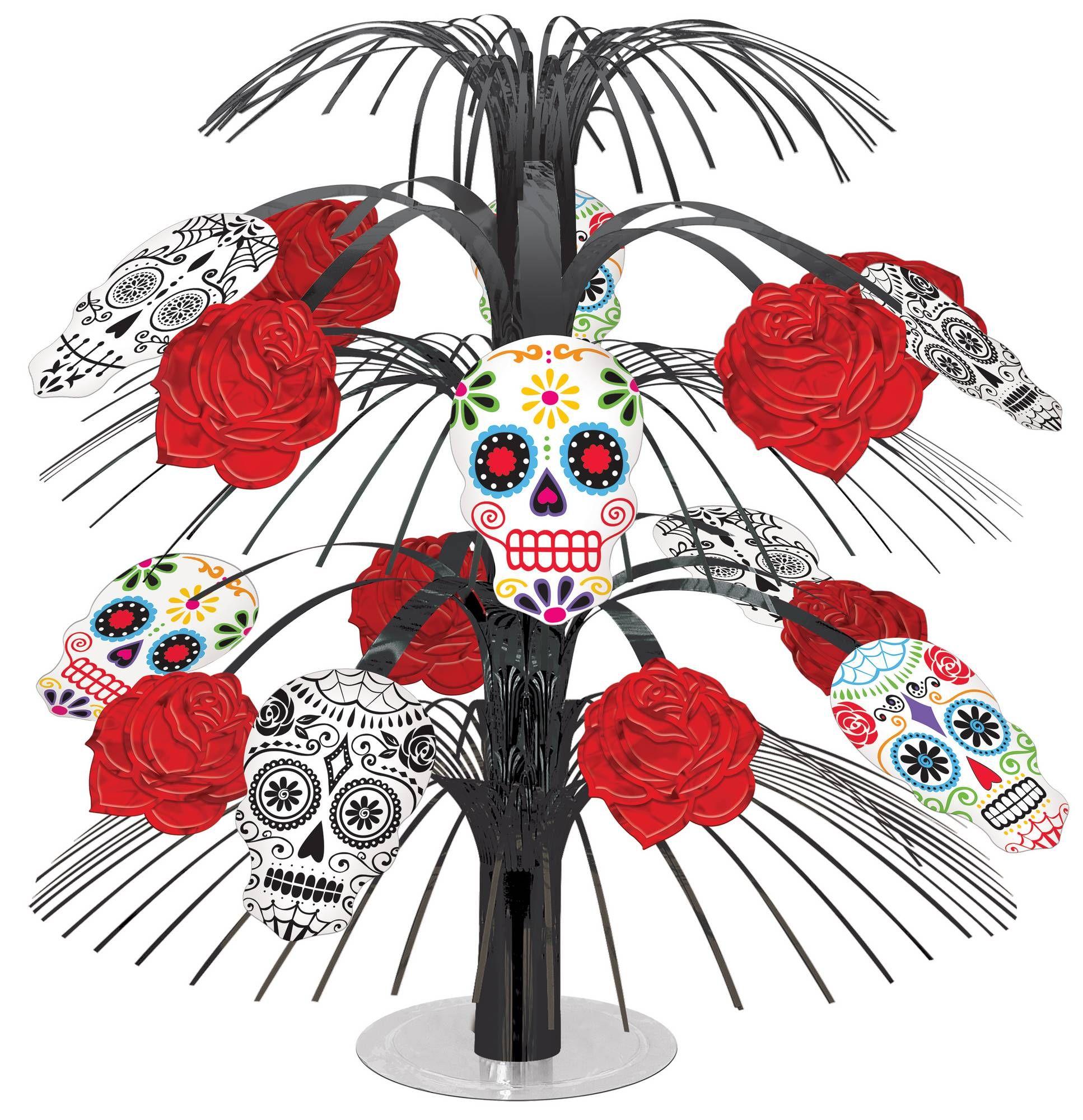 Addobbi Tavola Per Halloween decorazione halloween: centro tavola con teschi e rose