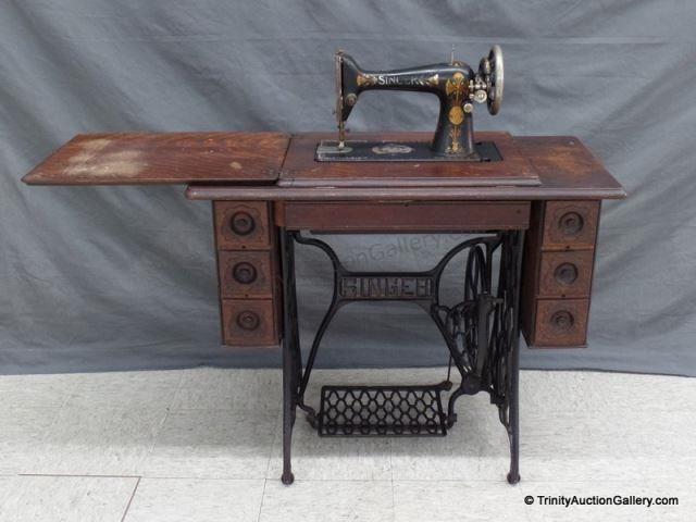 Lot 40 Antique 40 Singer Treadle Sewing Machine Assets Best 1906 Singer Sewing Machine Value